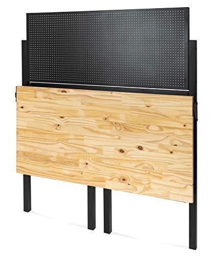 Klappbare Werkbank Klappbarer Werktisch Freistehend Ca 120 5 X 64 5 X 140 0 Cm Bxtxh Belastbarkeit 100 Kg Holz Arbeitsplatte Tischparadies24