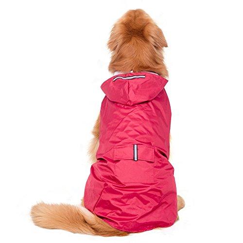Alxcio Hunde-Regenmantel, Welpen, Kapuzenjacke für kleine/mittelgroße Hunde, Katzen, schützt das Haustier vor Nässe und Dreck, Blau, Gr. XXXL