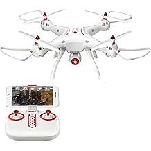Syma X8HG Nuevo producto (actualización de la popular Syma X8G) 2,4 6-Axis Gyro con la cámara de 8MP RC Quadcopter Drone incluye una función efectiva de mantenimiento de altitud para volar muy fácil para los principiantes (Color: Rojo) (X8SW)