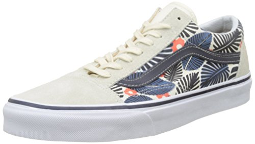 Vans  Ua Old Skool, Sneakers Basses homme Ivoire (Tropic Havana Classic White/french Blue)