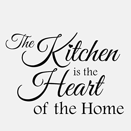 Die Küche Ist Das Herzstück Des Home Art Decor Pvc Wandaufklebers 52X36Cm (Ideen Herzstück Papier)
