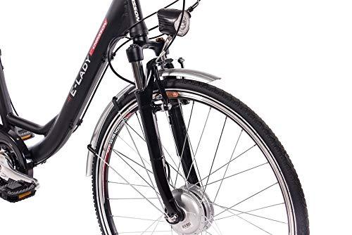 E-Bike Trekking und City Bike für Damen – E-Lady schwarz kaufen  Bild 1*