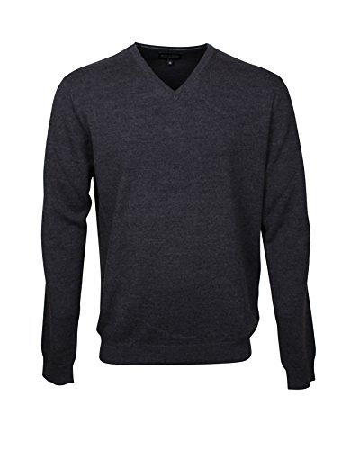 174611-XXL Bots & Bots - V-Neck Maglione da Uomo - Merino Wool - Normal Fit