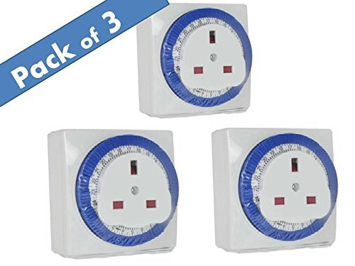 Sockit 24 Hour Segment Timer Switch - Compact Energy Saver - Plug in Mains by Sockit -