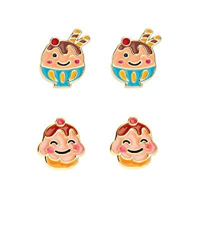 Girl Nation Kawaii Kitchen Collection Enamel Sweet Shoppe Besties Post Earring Set