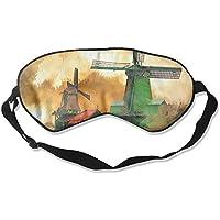 Sleep Eye Mask Windmill River Dusk Lightweight Soft Blindfold Adjustable Head Strap Eyeshade Travel Eyepatch preisvergleich bei billige-tabletten.eu