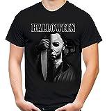 Halloween Männer und Herren T-Shirt   Kostüm Michael Myers Party Horror Kult   M4 (S, Schwarz)