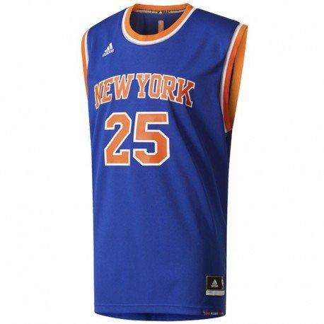 adidas INT Replica JRSY Maillot de basketball New York Knicks pour homme, Bleu (Nba New York Knicks 5 - 3Kb), L