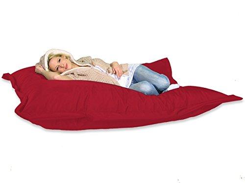 berlinpillow.de 4260406160982 Original Bean Bag, In und Outdoor Sitzsack XXL Bed Bag, 180 x 140 cm, rot