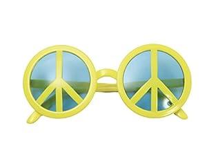 My Other Me Me - Gafas símbolo de la paz, talla única, color amarillo (Viving Costumes MOM01556)
