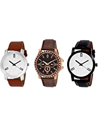 Swadesi Stuff New Arrival Exclusive Premium Quality Multi Color Leather Strap Stylish Analog Watch For Men Boys...
