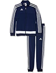 Adidas Tiro 15-Chándal de niño, de poliéster., color  - navy - blanc, tamaño 128
