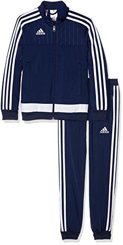 adidas Kinder Sportanzug Tiro15 pes su y, dunkel blau/Weiß, 128, S22298
