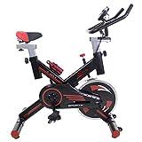 Vélo Spinning Ergonomic Pro, système Silent MAX, maxime qualité du disque d'inertie 24 kg, écran LCD, Moniteur de fréquence cardiaque Digi Premium (Blanc)