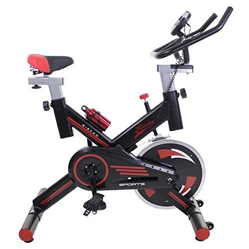 Ergonomic Pro Spinning Bicicletta, sistema Silent MAX, disco inerzia da 24 kg Qualità massima, display LCD, pulsossimetro Digi Premium (nero)