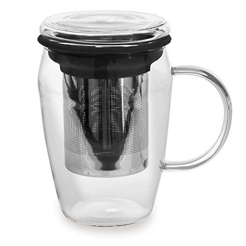 Mug infuseur 43cl Boro Noir - Bastide