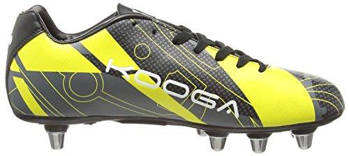 Kooga Evade, Chaussures de Rugby homme Noir - Black (Black/Yellow)