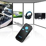 Bluetooth Musik Empfänger Mini Intelligenter drahtloser Bluetooth Music Receiver Freisprecheinrichtung Wireless Audio Adapter Audiogeräte für KFZ Lautsprechersystem 3.5 mm Aux TF/SD Karte