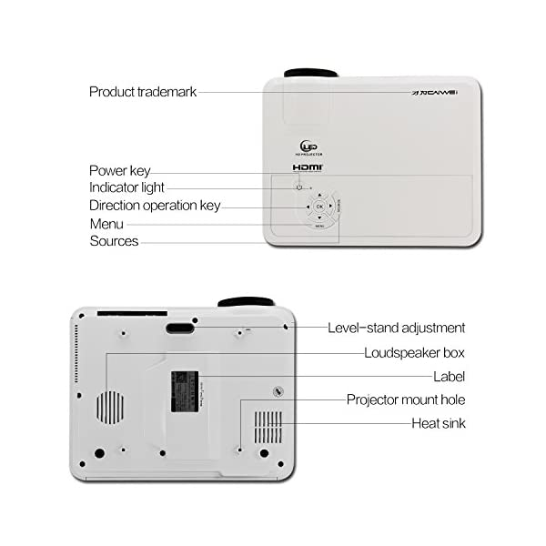 EUG-Sans-Fil-HD-Android-Vido-Projecteur-1080p-HDMI-Soutien-Airplay-Miracast-Miroir-Dcran-3600-Lumen-Wifi-LED-LCD-Accueil-Extrieur-Thtre-Projecteur-pour-TV-Ordinateur-Smartphone-Natif-1280x800