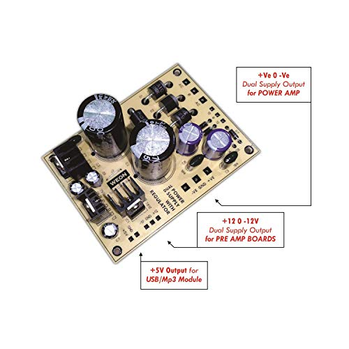 WEON Home Theater, Amplifier Power Supply Board ( Single Board with Main Amplifier Dual Supply & +5V, +12V, -12V Outputs )