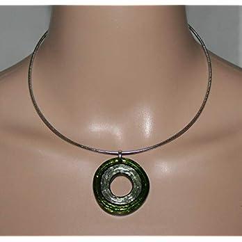Halsschmuck Halsreif mit Anhänger Halskette Gschenk für sie Damenschmuck