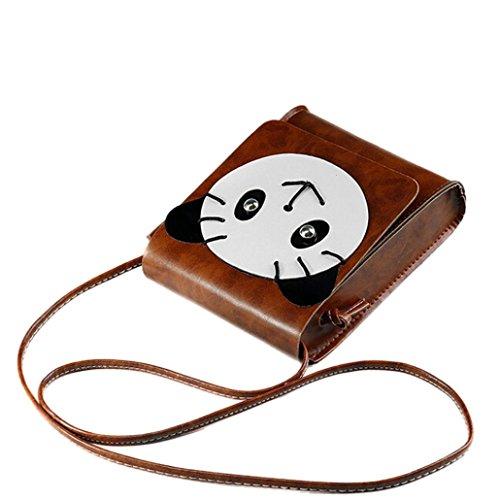 Transer Artificial leather Handbags & Single Shoulder Bags Women Zipper Bag Girls Hand Bag, Borsa a spalla donna Coffee 15cm(L)*18(H)*5cm(W) Brown