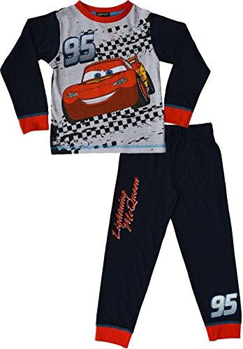 Disney Cars Pyjama Lightning McQueen Schlafanzug Alter von 2 bis 7 Jahren[5-6 Jahre][Marine]