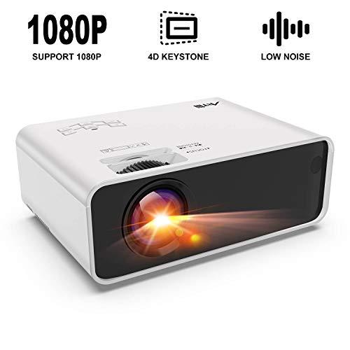 HD Beamer 3500 Lumens Artlii LED Projektor für Heimkino Fußballspiel Gaming, Unterstützung 1080P, mit Kostenlose HDMI-Kabel, USB/SD/VGA/AV Anschlüsse