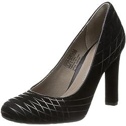 Rockport Damen Edessa geschweißt Pumpe Court schwarz Wildleder Schuhe v74722, schwarz - schwarz - Größe: 37