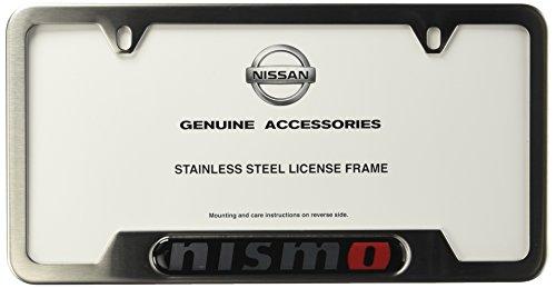 Genuine Nissan Accessories 999MB-AV000SA Satin License Plate Frame ...