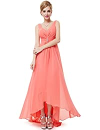 Ever Pretty Damen V-Ausschnitt Chiffon Lange Abendkleider 09983
