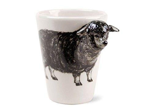 Schaf Geschenke, Kaffeetasse Handgefertigt von Blue Witch
