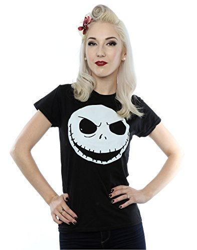 disney-mujer-nightmare-before-christmas-jack-skellington-face-camiseta-small-negro