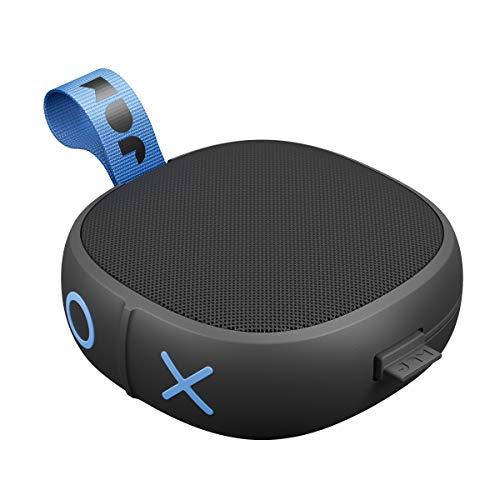Jam Hang Up - Bluetooth Lautsprecher für die Dusche (Saugnapf, 8 Std. Akkulaufzeit, wasserdicht, staubdicht, sturzfest IP67, Mikrofon, kabellos, Aux-In, integriertes USB Kabel) black