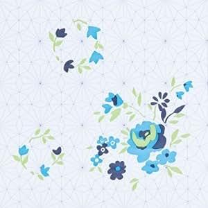 Dalle de sol pvc auto adh sive d cor imprim vintage blue - Dalles de sol pvc auto adhesives ...