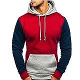 Männer Spleißen Hoodies Mann Langarm Mit Kapuze Sweatshirt Mode Voll Ärmeln Männlichen Knopf Pullover Tops Bluse Bunten Pullover Moonuy