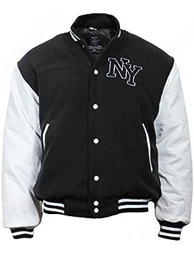 Nueva chaqueta de béisbol M, Patch negro/blanco, color Negro - negro, tamaño XL