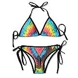 Sdltkhy Unicorm Jump Rainbow Heart Swimwear Cool Skimpy Womens Sexy Modest Bikini