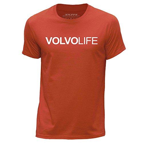 stuff4-herren-gross-l-orange-rundhals-t-shirt-auto-leben-liebe-volvo