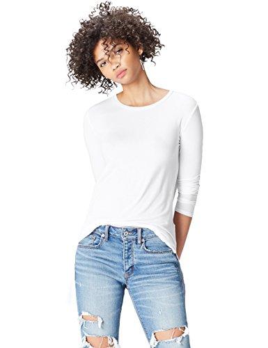 FIND 18136 magliette donna, Bianco (White), 48 (Taglia Produttore: X-Large)