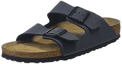 Birkenstock Arizona, Unisex-Adults' Sandals, Grey (BASALT), 37 EU, 4 UK Slim