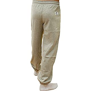 Ampro London Original Fleece Tracksuit Bottoms - Grey (Large)