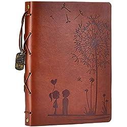 Álbum de Recortes Fotos, Amor Memoria Libro de visitas Libro de bocetos Páginas Negras Álbum de Recortes cumpleaños de Aniversario de San Valentín (marrón, S)