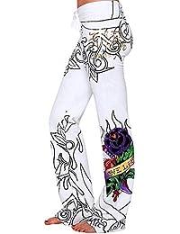 Sunenjoy Pantalon Femme Pantalon Ample Palazzo Jambe Large de Sport Lâche  Fitness Jogging Yoga Été Chic Taille… 35ca3108557