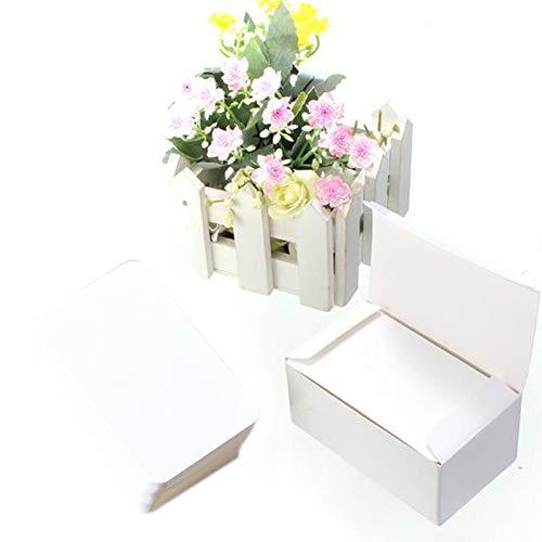 (Vazan - 100st Jahrgang leere Karte DIY Grußkarten Graffiti-Wort-Karten Hochzeit Geschenk Thick Kraft Papier Postkarten [weiß])