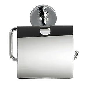 Wenko 23426100 Power-Loc® Toilettenpapierhalter mit Deckel Arcole - Papierrollenhalter, Befestigen ohne Bohren, 14.7 x 13.4 x 8 cm