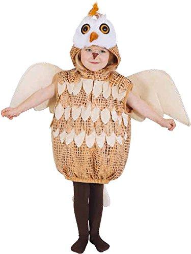 Kinder Kostüm Eule in braun zu Karneval Fasching (Eule Flügel Kostüm)