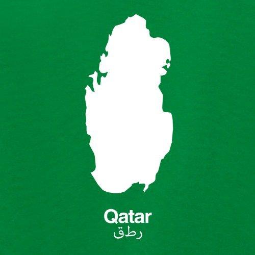 Qatar / Katar Silhouette - Damen T-Shirt - 14 Farben Grün