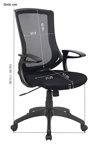 VIVA OFFICE Mesh High Back Executive Office Chair, Computer Chair Black