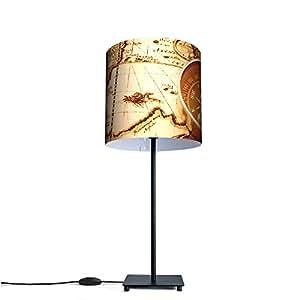 DES lampe de table design lampe avec motif multicolores world map :
